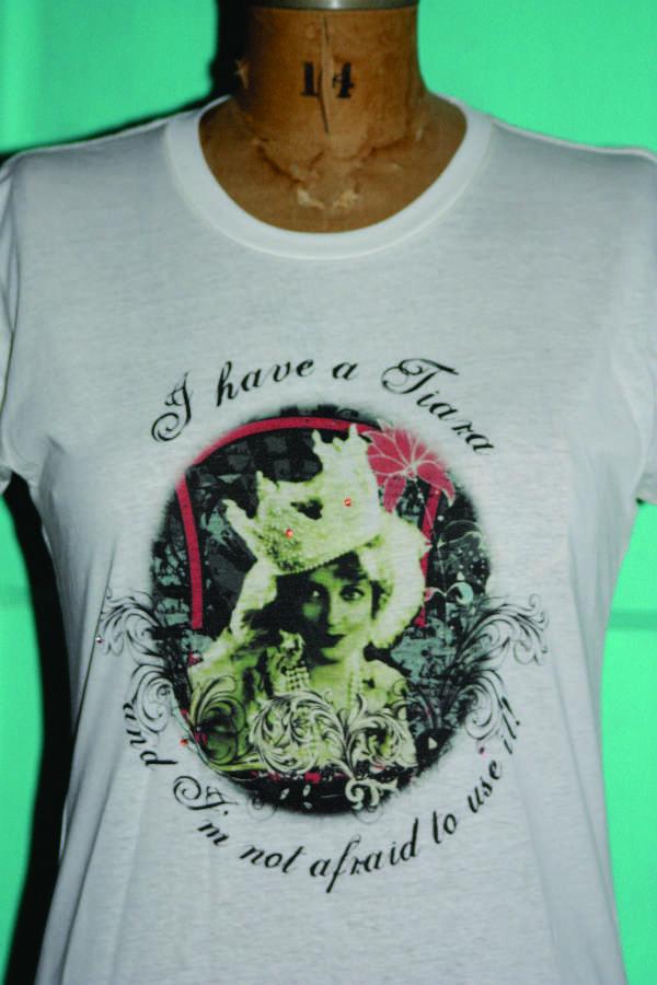 ladies tee shirt - I have a Tiara