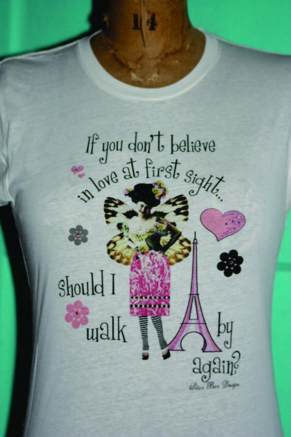 ladies tee shirt - love at first sight
