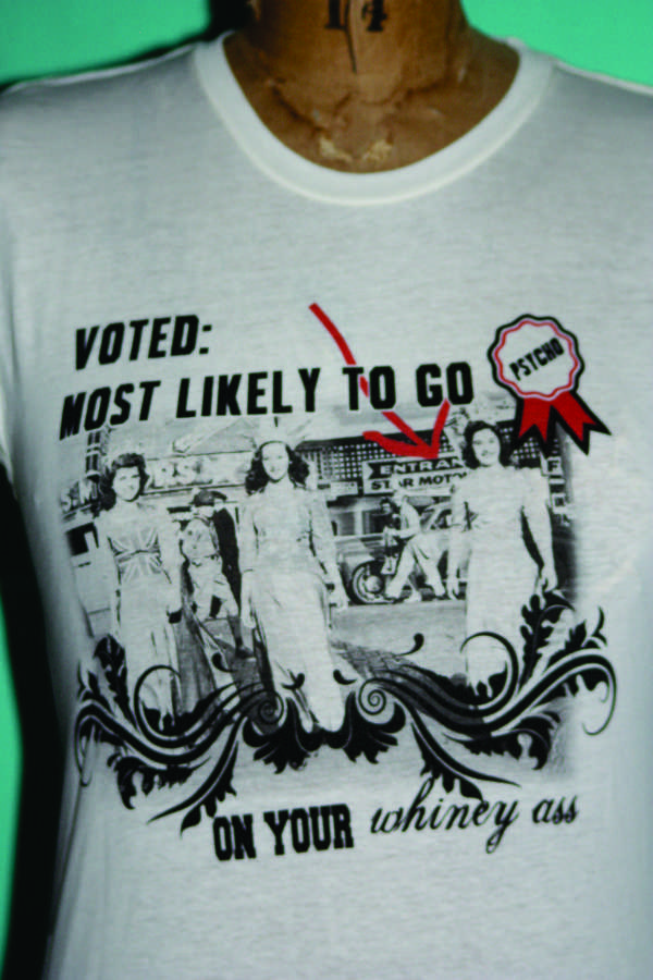 ladies tee shirt - voted most likely-ladies tee shirt